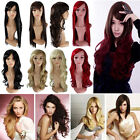 Vogue Lady Full Wigs Red Black Blond Real 5a Synthetic Wig Hair Accessory UPS C6