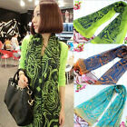Hot Lady Women's Long Chiffon Scarf Wraps Shawl Stole Soft Scarves PWS018