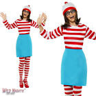 FANCY DRESS COSTUME # WHERE'S WALLY? LADIES WENDA SIZES 8-18