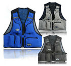 New Mens Utility Multi Pocket Zip Hunting Fishing Shooting Outdoor Vest M218