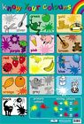 New Know Your Colours Educational Children's Chart Mini Poster