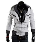 New Men's Slim Fit Zip-up Hoodie Casual Sweatshirts Coat Jacket 3 Colors  MWW013