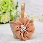 50PCS Burlap Basket Favor Boxes Wedding Party Birthday Gift Candy Box Linen