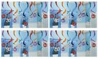 MULTI COLOUR Birthday 15 HANGING SWIRL DECORATIONS (61cm long) {Amscan} (Party)