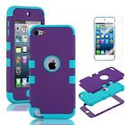 FOR iPod Touch 5th Gen -HARD & SOFT RUBBER HIGH IMPACT ARMOR CASE HYBRID COVER