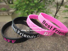 BFF - Best Friends Forever Wristband s Silicone Bracelet - Love friendship Heart
