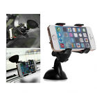 Unversal Double Car Mount Holder Bracket Rotate Stand for Cell Smart Phone White