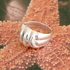 STERLING SILVER NO STONE RING SOLID 925/1000 NEW  SIZE J-Y JEWELLERY