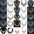 Fashion Women Charm Jewelry Chain Choker Crystal Chunky Statement bib Necklace