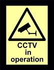 Packs Of Photoluminescent / Glow In The Dark CCTV Signs - All Materials & Sizes