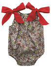 Sophie Catalou Avellana Baby Girls Bubble Jumper Brown and Red  Daisy Print NWT