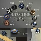 1X Vintage Beads Flower Lapel Pin Brooch Pin Boutonniere Men's Corsage Pins New