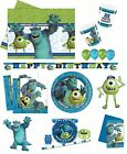 Disney MONSTERS UNIVERSITY Inc. (PIXAR) Birthday PARTY Tableware Balloons Decor