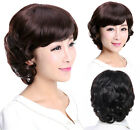 30% OFF Women lady full wig human wigs Half Natural Real human hair Gift for mum