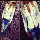 NEW Ladies Parka Women Sexy Casual Fashion Top Jacket Coat Zipper Coat Breasted