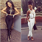 Women Pretty Bandage Bodycon Evening Sexy Party Cocktail Dress Jumpsuits Black