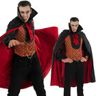 Deluxe Mens Vampire Dracula Count Halloween Fancy Dress Costume