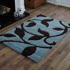 LARGE SMALL MEDIUM MODERN DUCKEGG BLUE BROWN CARVED SHAGGY DESIGN BEST RUGS