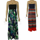 Ladies Summer Sun Cotton Long Maxi Dress Casual Beach Smart Red Blue White Green