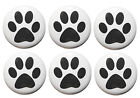 Dog Paw Print Fridge Magnet Set with RSPCA DONATION - Made in UK - 25mm