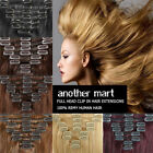 US Best Popular 8PCS Full Head Clip In 100% Real Remy Human Hair Extensions B90