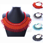 Fashion Bohemia Jewelry Clavicle Tassel  Statement Bib Pendant Choker Necklace