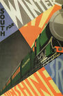 """SOUTH FOR WINTER""  Vintage Art Deco Railway/Travel Poster A1,A2,A3,A4 Sizes"