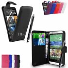 FLIP WALLET CASE POUCH PU LEATHER COVER FOR HTC ONE M9 (2015) MOBILE PHONE