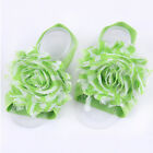 Pure Baby Girl Rose Flower Chiffon Shabby Barefoot Sock Toe Shoes Sandals Blooms