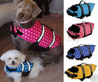 New Pet Dog Buoyancy Aid Swimming Floating Boating Life Jacket 7 Colors 5 Sizes