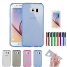 Ultra Slim Crystal Clear TPU Back Case Skin Cover For Samsung Galaxy S6 5.1 inch