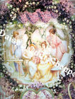 "Fabric Art Quilt Block * Victorian Tea Party ""  12-352  FREE SHIPPING"