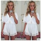 Playsuit Party Dress S/M/L Jumpsuit Evening Lace Celeb