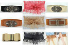 Womens LACE  Buckle Elastic Stretch  FASHION Waistband Wide Belt Limited offer