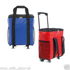 18Ltr Large Wheeled Zipped Foldable Insulated Trolley Coolbag - Camping Festival