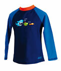 Zoggs Shark Fever Sun Protection Swim Top Boys Rash Vest  UPF50+ 7016151