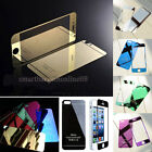 Mirror Front Back Tempered Glass Screen Film Protector for iPhone 5 5S 6/6 Plus