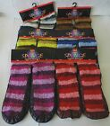 Ladies Slipper / Shoe Socks Leather Sole Size 3 & 6 UK - Choice of Colours