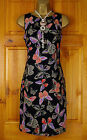 NEW DOROTHY PERKINS BLACK RED GOLD PURPLE SUMMER BUTTERFLY TUNIC DRESS UK 8 - 20
