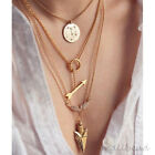 Fashion Charm Womens Cupid Coin Chunky Choker Statement Chain Necklace Pendant