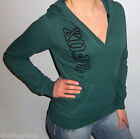 New FOX RACING RIDERS Green DEEP V Hooded POCKET Sweatshirt HOODIE S M L XL