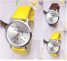 New Ladies Who Cares I'm Already Late Stainless Steel Quartz Watch Colour Choice