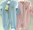 "BABY  100% SOFT COTTON  "" LITTLE AND LOVED ""   ALL IN ONE SLEEPSUIT  3 SIZES"