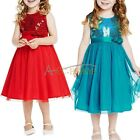 Girls Sequins Party Flower Formal Wedding Princess Bridesmaid Christening Dress