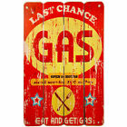 Red Gas Retro/Vintage Wooden Plaque/Sign/Print/Poster Wall Art/Decor/Car/Old
