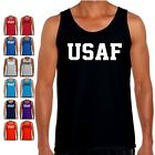USAF Tank Top PT US Military Air Force Bodybuilding Crossfit Exercise T Shirt