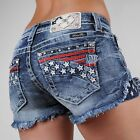 Miss Me Jeans Shorts American Flag Stars and Stripes Americana 25 26 27 28 29 30