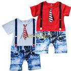 New Baby Boy Toddler One Piece Gentleman Romper Bodysuit Playsuit Outfit Clothes