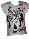 BNWT EX STORE MINNIE MOUSE WHITE SUMMER TOP T SHIRT 5,6,7,8,9,10,11,12 YRS