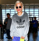 Adidas Originals Rita Ora Grey Oversized Sweatshirt Loose Fit Jumper M UK14 EU40